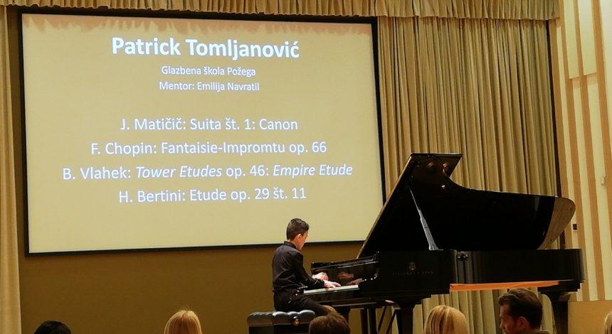 Glazbena škola Požega na Prvom međunarodnom klavirskom natjecanju Janez Matičič 2018.