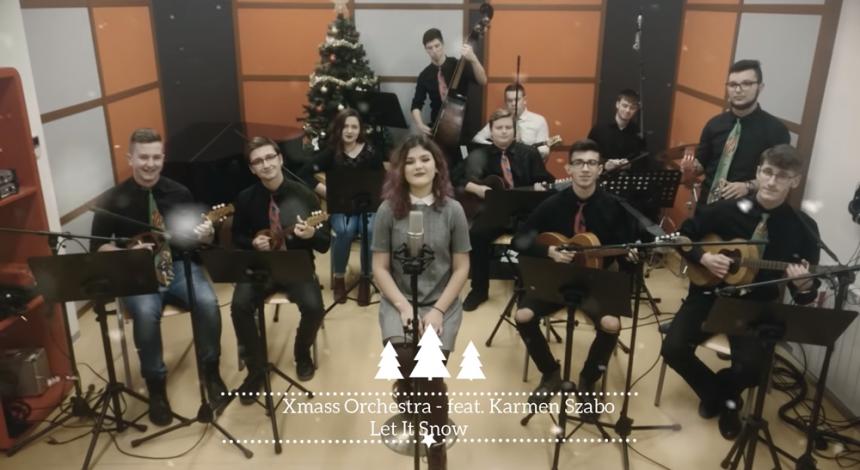 Učenici u sklopu predmeta Audio snimanje i obrada tona snimili glazbeni blagdanski video spot