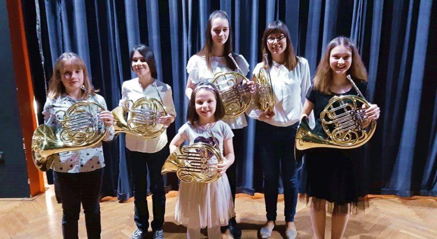 Naši učenici sudjelovali na seminaru i Koncertu hornista u Bjelovaru