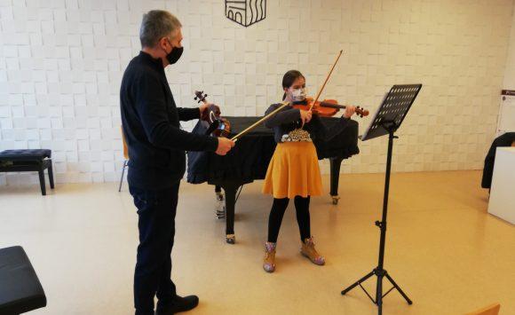 Csaba Zima održao seminar iz violine